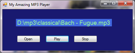 music player project in c++